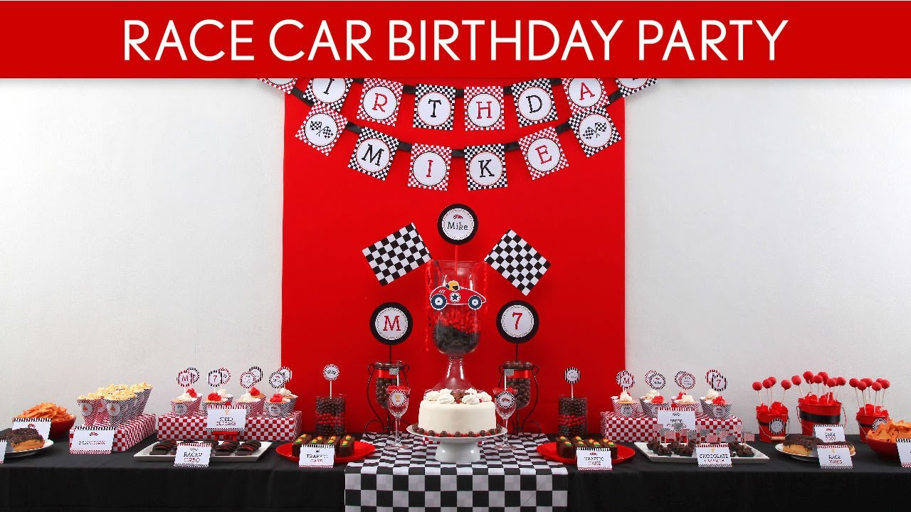 Race Car Birthday Party Ideas Vintage Race Car B1 YouTube