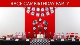 Race Car Birthday Party Ideas // Vintage Race Car - B1