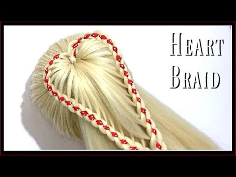 HEART BRAID PONYTAIL / HairGlamour Styles /  Hairstyle Tutorials thumbnail