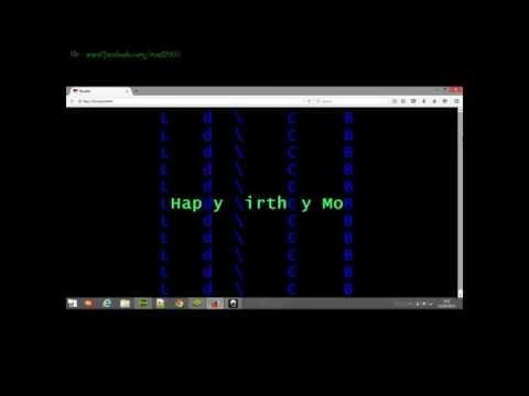 Ucapan Selamat Menggunakan HTML/Code/Script