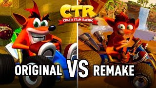 CRASH TEAM RACING Nitro-Fueled | Side by Side Comparison