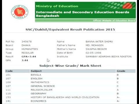 Educationboardresult