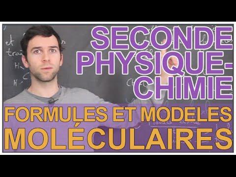 Formules et modèles moléculaires - Physique-Chimie - Seconde - Les Bons Profs