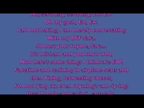 Ew!- Jimmy Fallon ft will.i.am FULL Song Lyrics (Official)