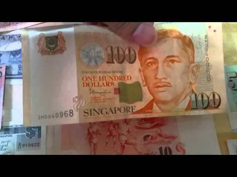 Singapore Dollar And Other Country Dollar Note