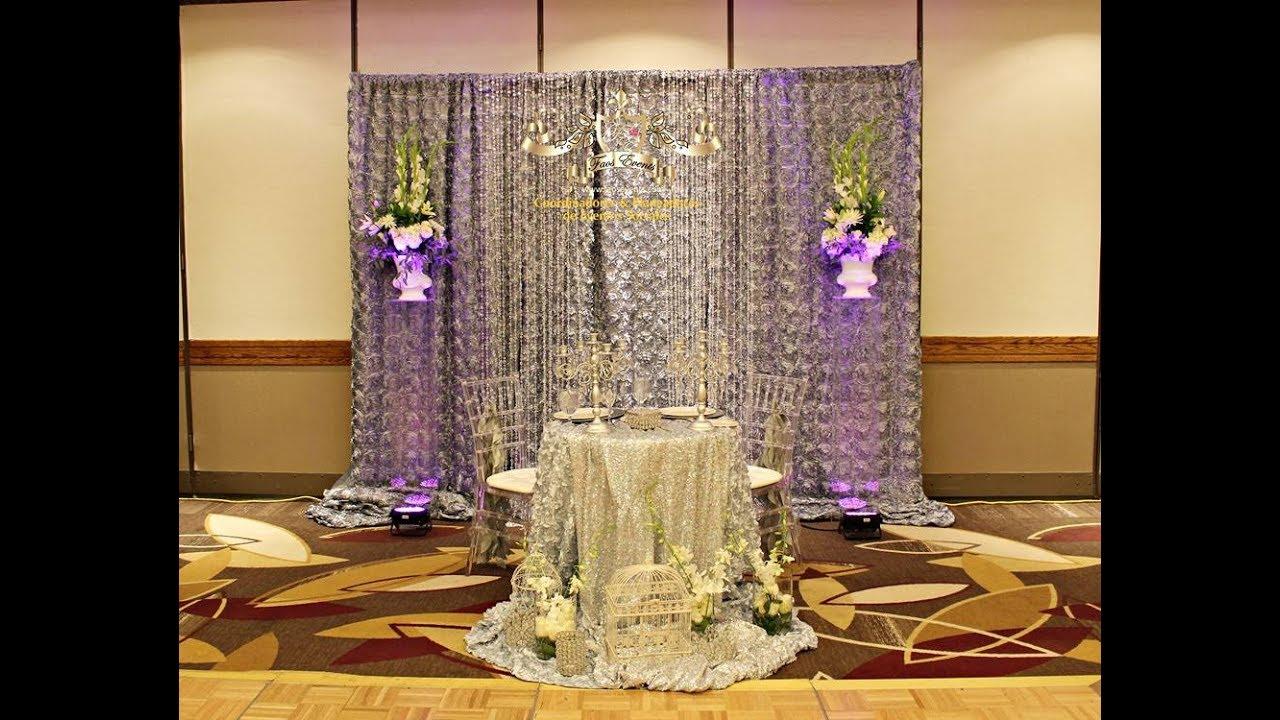 Faos events decoracion de boda color perla y plata youtube - Decoracion para bodas de plata ...