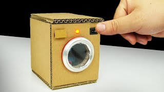 DIY How to make Washing Machine from Cardboard