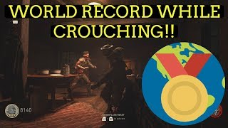 ANOTHER WORLD RECORD!! WITHOUT STANDING! WW2 Zombies Crouching Challenge