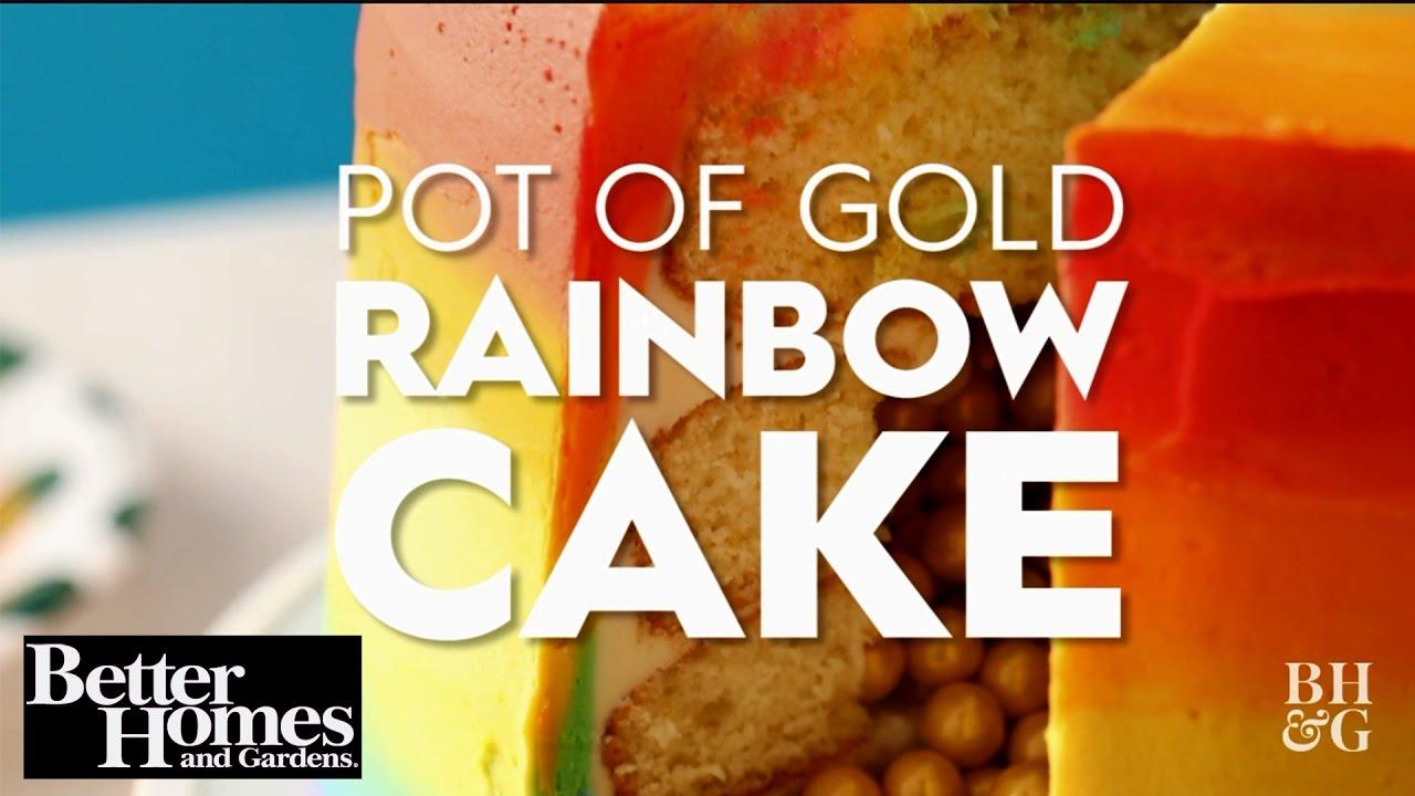 Pot Of Gold Rainbow Cake Youtube