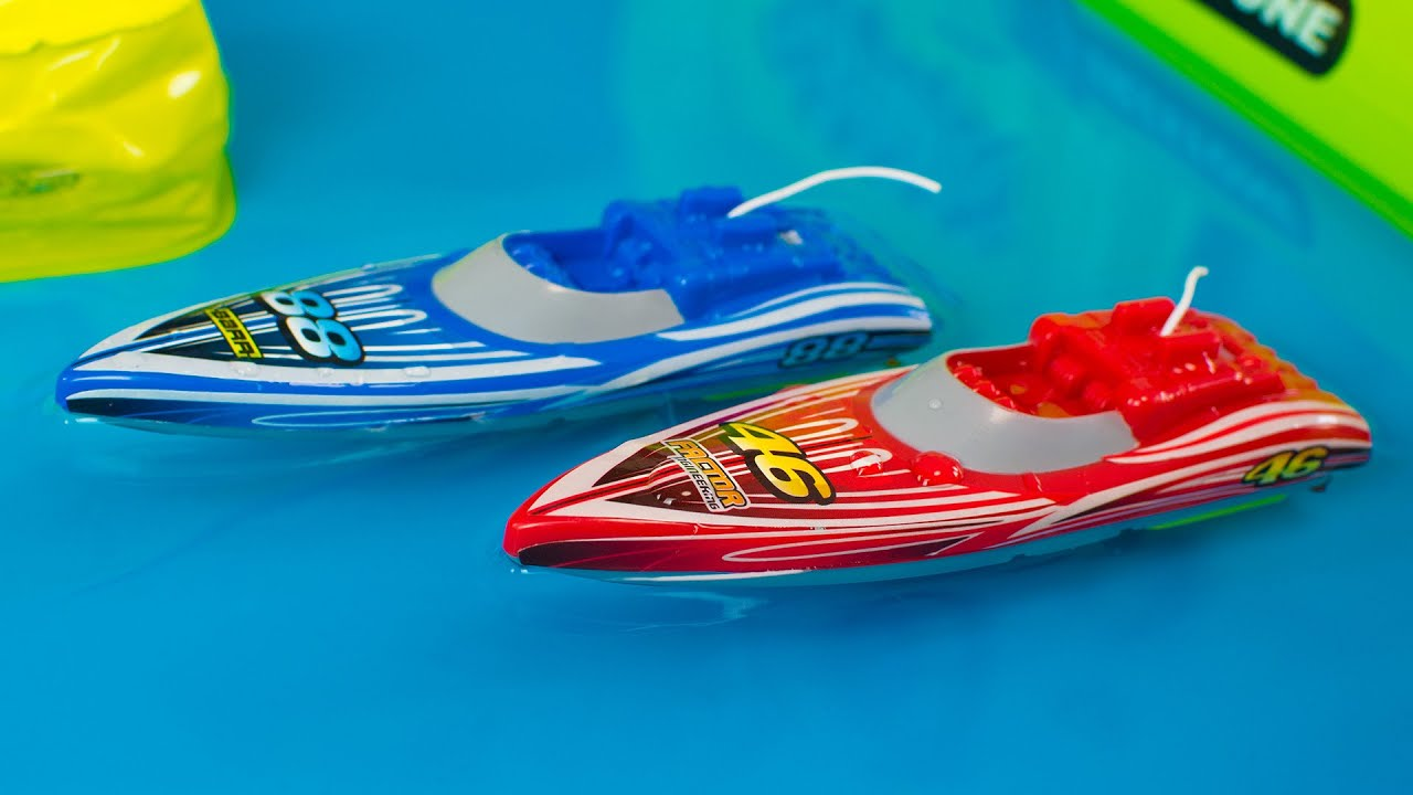 Toy Boats for Kids Sharper Image RC Speed Boat Racing Playset Toys ...