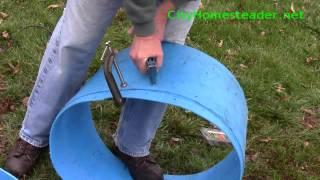 Potato patch in a barrel