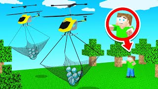 STEALING Minecraft DIAMONDS With HELICOPTERS!