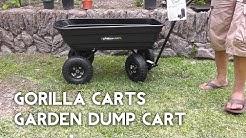 Gorilla Carts Garden Dump Cart - Better than Wheelbarrow?