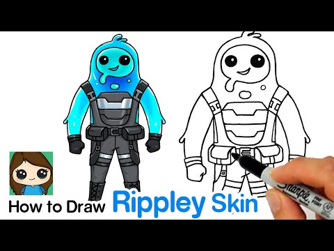 How To Draw Fortnite Rippley Skin