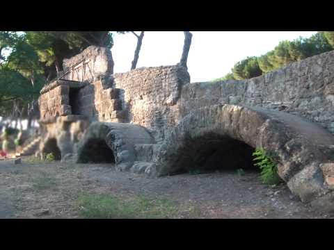Ancient Roman Aqueducts, Aqua Marcia Park in Rome