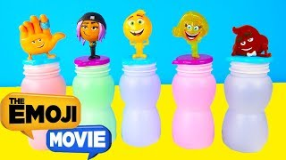 The Emoji Movie Slime Game - Learning Colors with Emoji Hi-5, Gene, Paw Patrol Toys | Ellie Sparkles