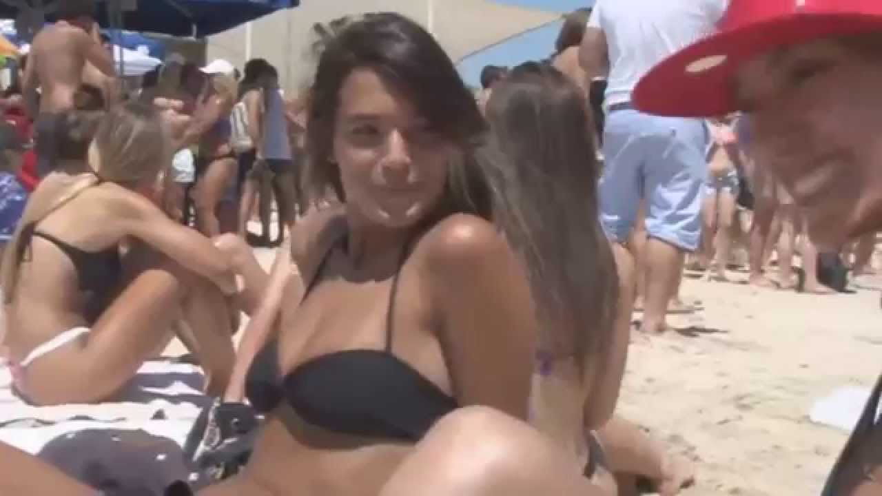 beautiful girs at naked beach party