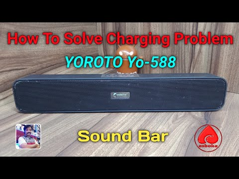 How to Repair Charging Problem Bluetooth Sound Bar YO588