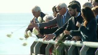 ministro alemán visitó el parque de la memoria junto a familiares de desaparecidos