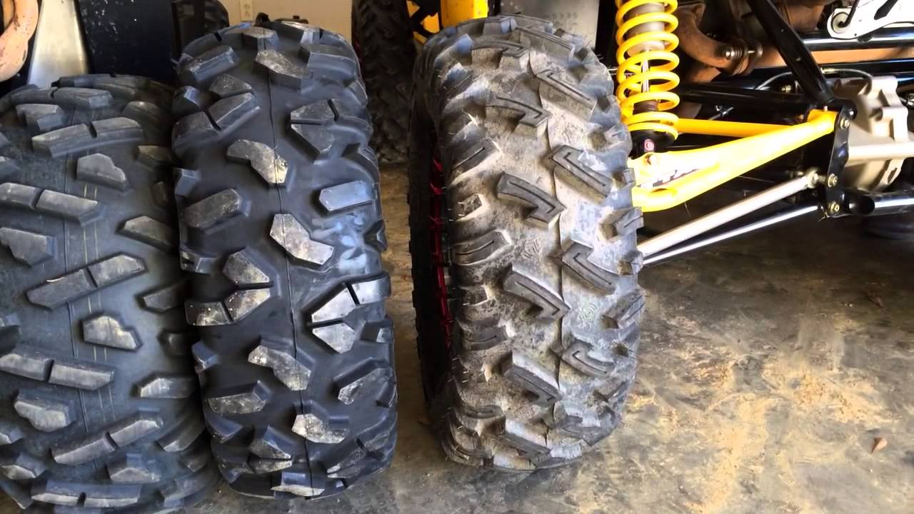 Can Am Commander For Sale >> Bighorn, Roctane, Dirt Commander Tire Comparison - YouTube
