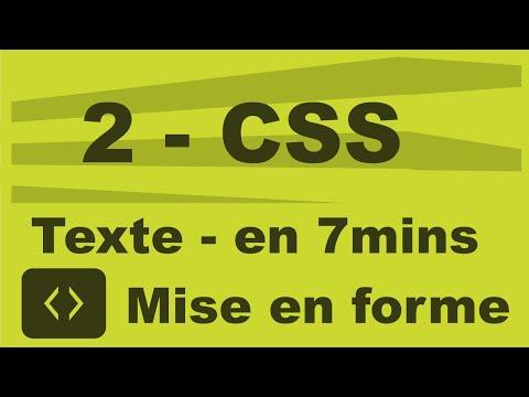 2 CSS - Propriétés Utiles Pour Le Texte