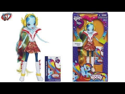 My Little Pony Equestria Girls: Rainbow Rocks Rainbow Dash Doll Toy Review, Hasbro