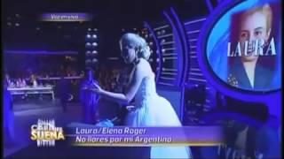 Laura Esquivel es Elena Roger (Evita - No Llores por mi Argentina) - Tu Cara Me Suena (Gala 10)