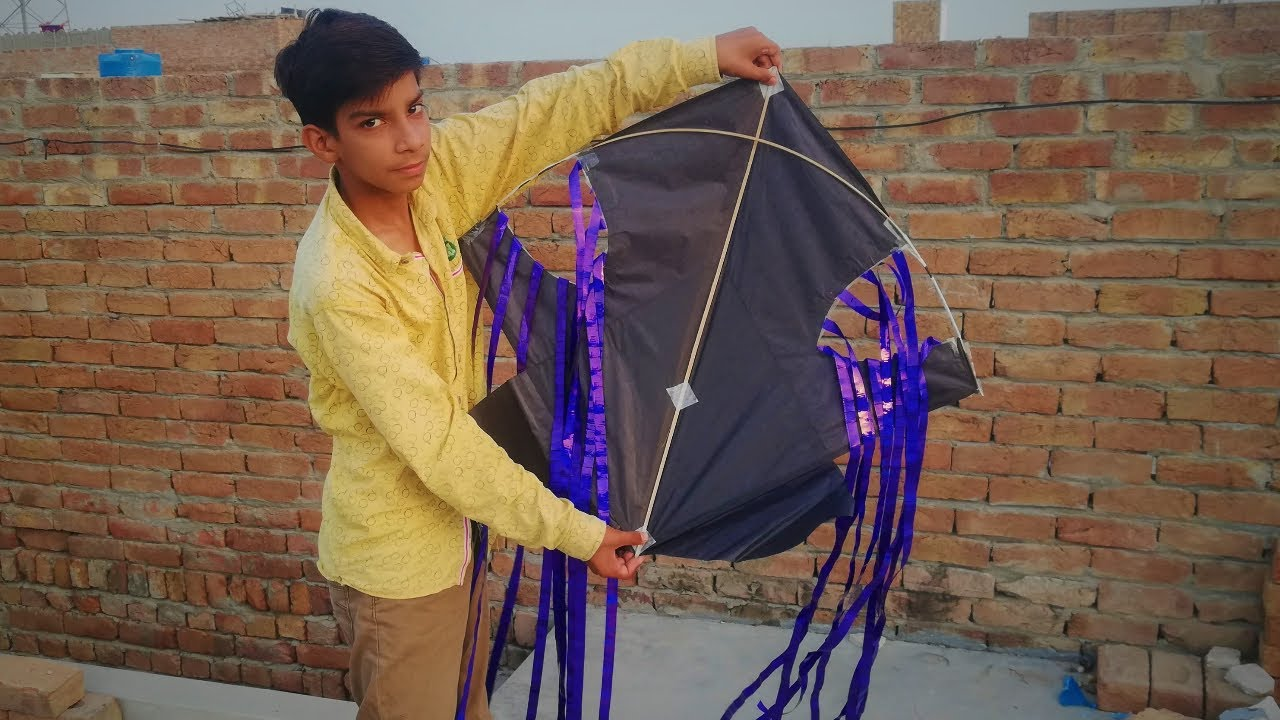 Kite By Stylish Fly On Sky | New Experiment To Kite Flying | Gudda Flying | Kite Flying | Patang Fly