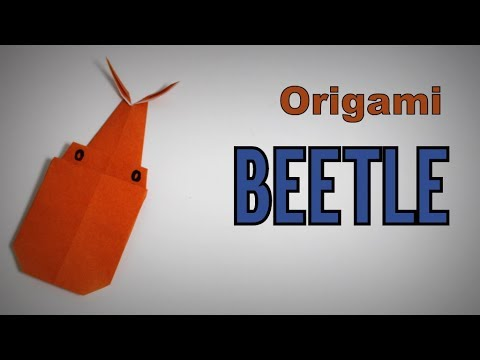 Origami - How to make a BEETLE