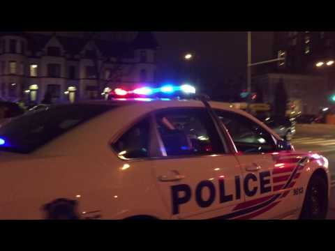 2 WASHINGTON DC METRO POLICE UNITS RESPONDING DURING INAUGURAL EVENTS FOR PRESIDENT TRUMP.