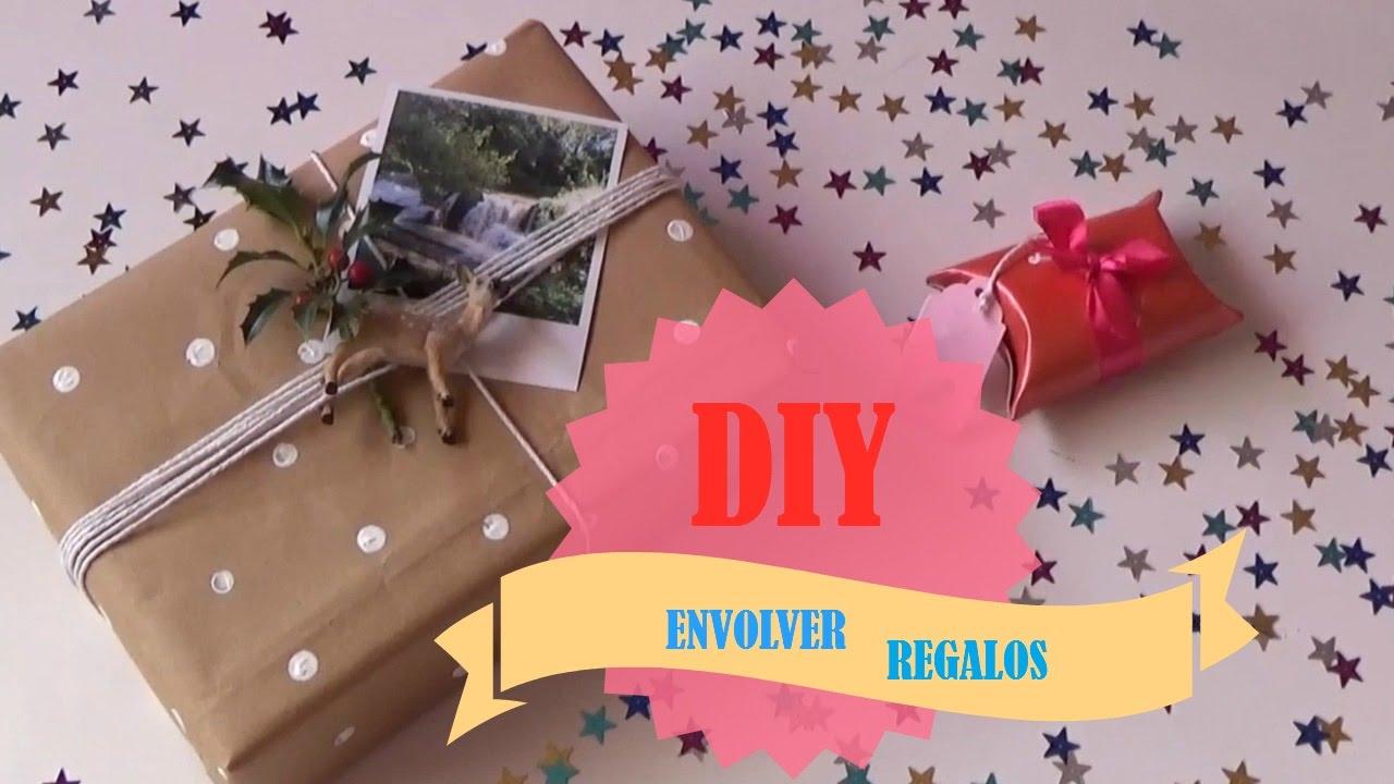 Diy envolver regalos con materiales de reciclaje a precio - Como envolver regalos de navidad originales ...
