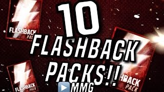 HUGE Flashback Pack Opening! 10 Flashbacks! Madden Mobile