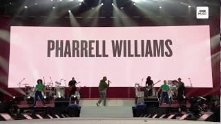 Get Lucky - Pharrell Williams Live On #OneLoveManchester