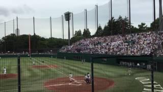 慶應義塾高校野球先頭打者ホームランからの若き血の大合唱