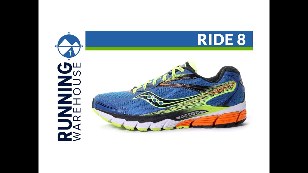 Saucony Ride 8 for men - YouTube