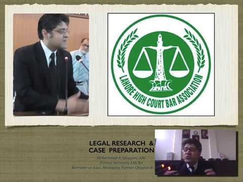 LHCBA Lecture: Law Research & Case Preparation lecture
