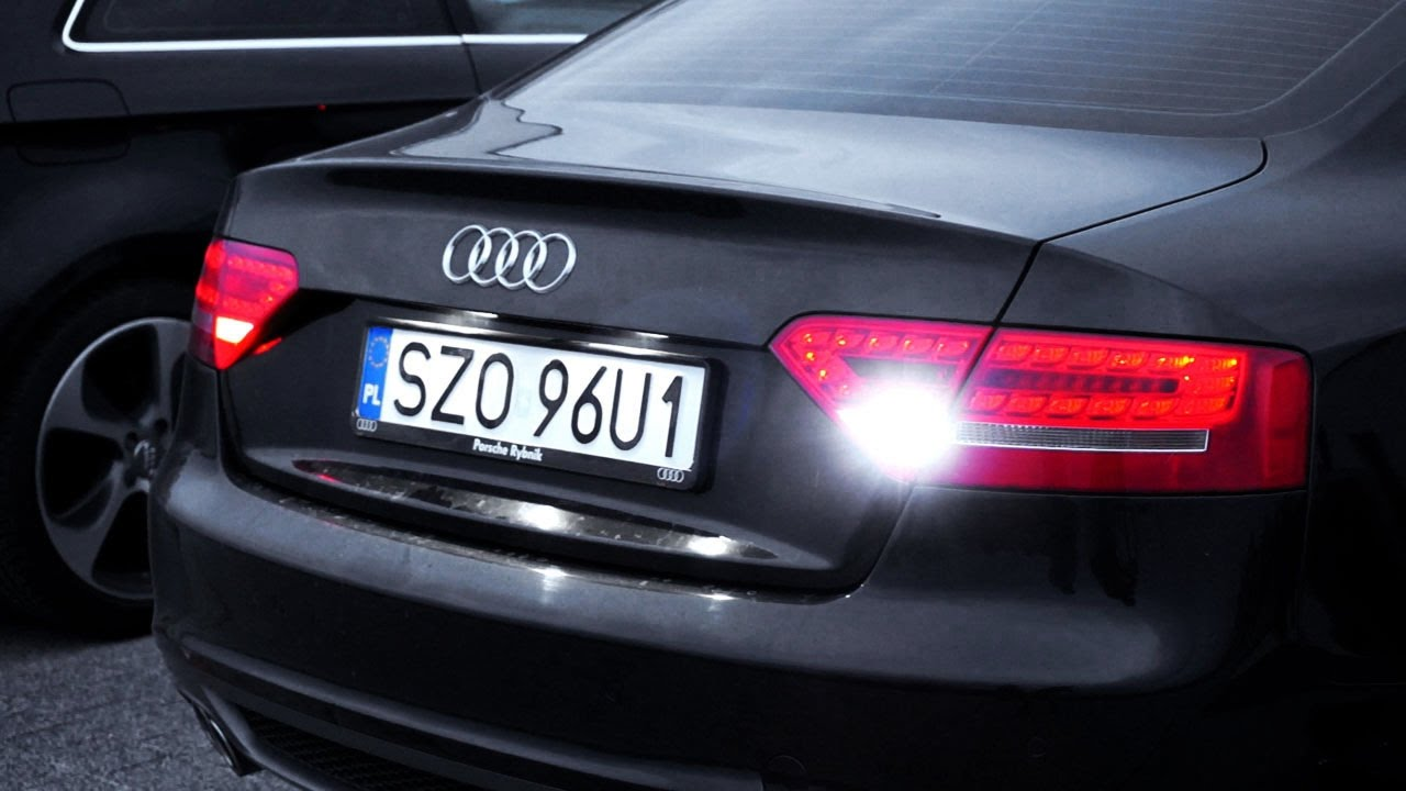 audi a5 b8 led reverse lights w16w tuning youtube. Black Bedroom Furniture Sets. Home Design Ideas