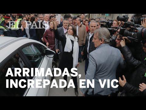 CIUDADANOS  Inés Arrimadas Es Increpada En VIC