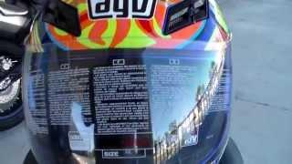 agv k 3 rossi 5 continents replica helmet
