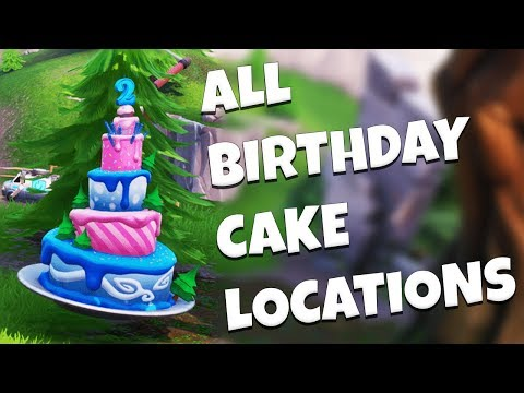 ALL BIRTHDAY CAKE LOCATIONS – Fortnite Birthday Challenges Guide