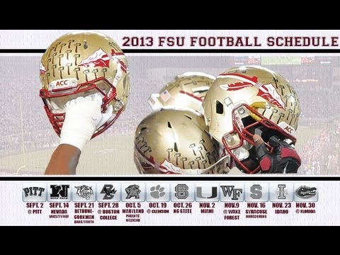 2013 florida state football schedule youtube 2013 florida state football schedule florida state seminoles voltagebd Image collections