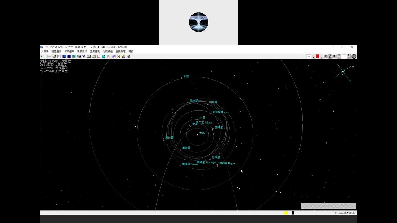 類行星微天體占星~各式天體的軌道圖示~從軟體操作中示範