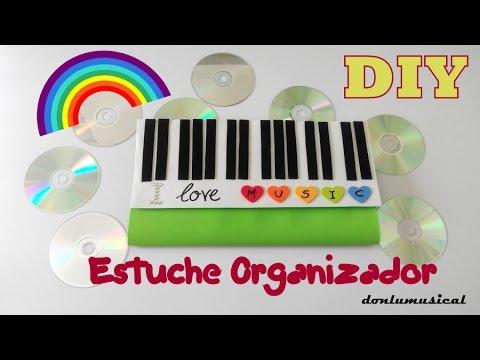Diy estuche organizador goma eva cd dvd videojuegos - Estanterias para cd y dvd ...