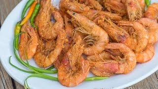 Crispy Nilasing Na Hipon (Wine Marinated Crispy Shrimp) -Panlasang Pinoy