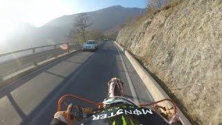 Salita Selvino - KTM 125 Motard 2015 e Husqvarna 511