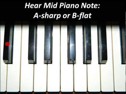 Hear Piano Note - Mid A Sharp or B Flat