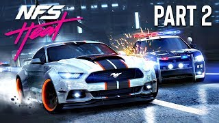 Destroying POLICE CARS in a POLICE CHASE!! (Need for Speed: Heat, Part 2)