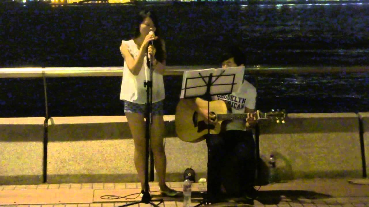 Beyond~情人+喜歡你(cover by Janice) @中環碼頭Busking 2015.07.12 - YouTube