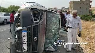 Nusaybin'de trafik kazası: 2'si çocuk 6 kişi yaralı
