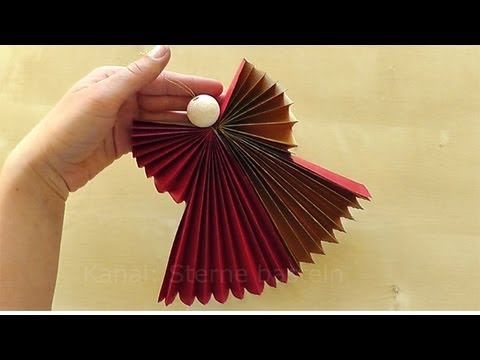how to make a paper angel for christmas youtube. Black Bedroom Furniture Sets. Home Design Ideas